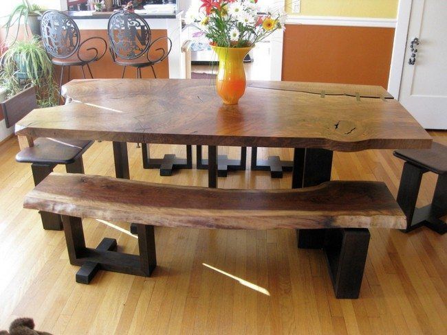 Diy dining table ideas decor around the world - Dining room furniture benches ideas ...