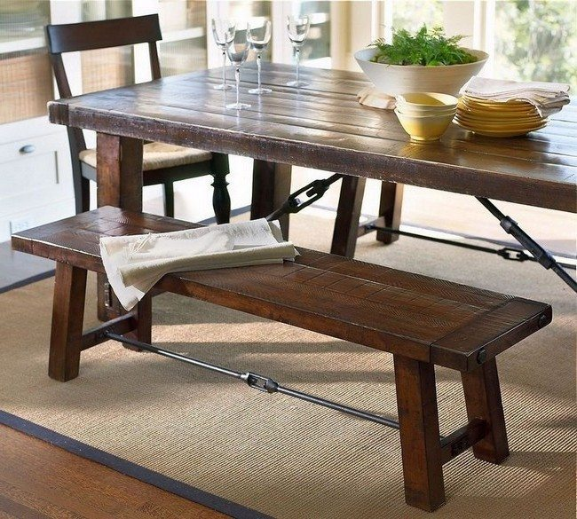 Amazing dinner tables for your home decor around the world - Exciting look kitchen table bench plans ...