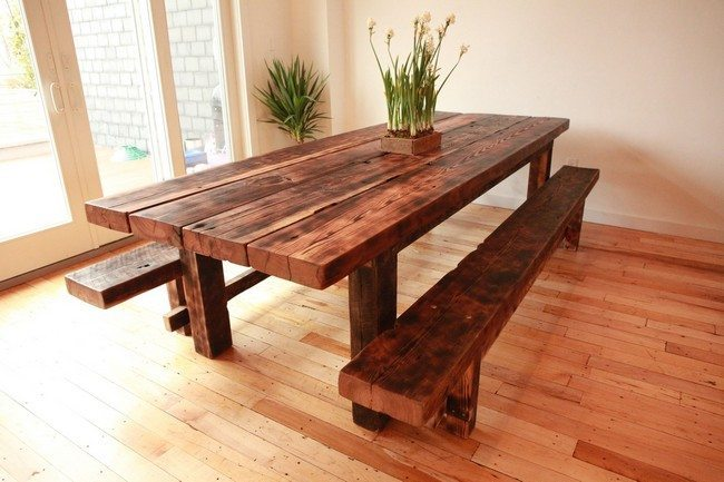 DIY Dining Table Ideas Decor Around The World : l luxury old world plank wood dining room table old world plank wood dining room table wood plank dining table with raw edge diy wood plank dining table top wood plank dining table texas wood pl from decoratw.com size 650 x 433 jpeg 57kB