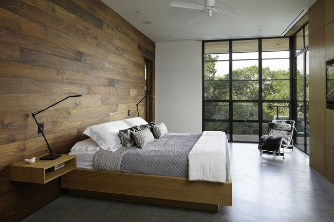 Minimalist Bedroom Decorating Styles Decor Around The World : modern minimalist bedroom interior design ideas with wooden wall natural inspired style from decoratw.com size 650 x 433 jpeg 55kB
