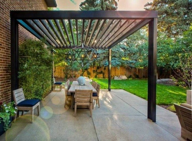 Refreshing modern pergola design ideas decor around the for Modern glass porch designs