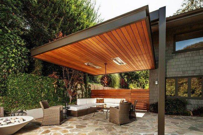 Refreshing modern pergola design ideas decor around the - Como construir una pergola de madera ...