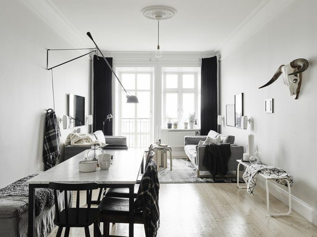scandinavian living room design style decor around the world. Black Bedroom Furniture Sets. Home Design Ideas
