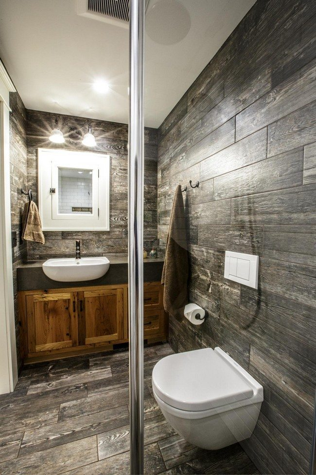 Wood Tile In Bathroom