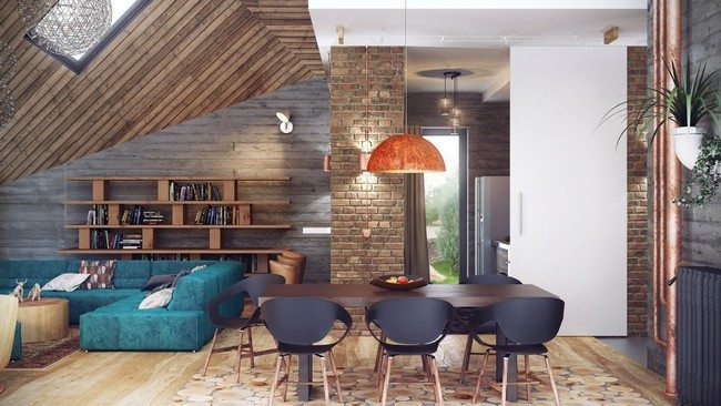 Use of bright furniture