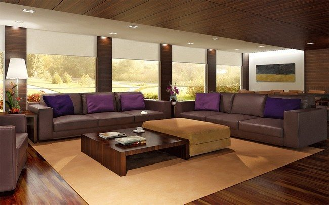 Matching floor and ceiling designs