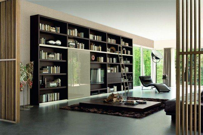 Wide bookshelf