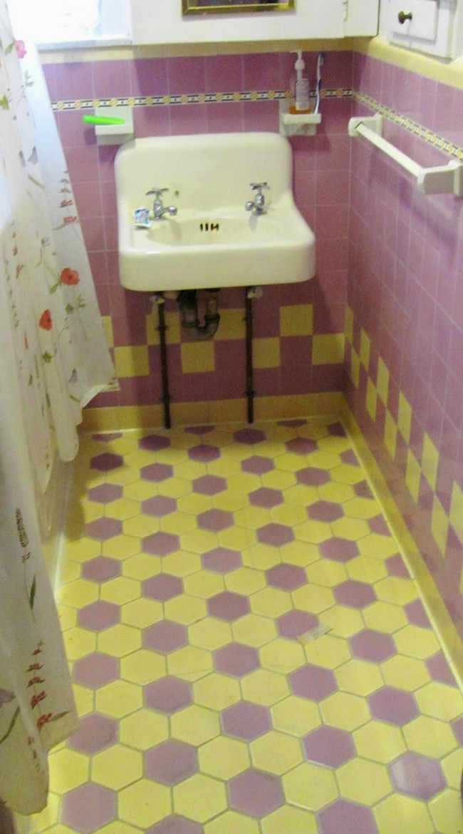 Bright, patterned tiles