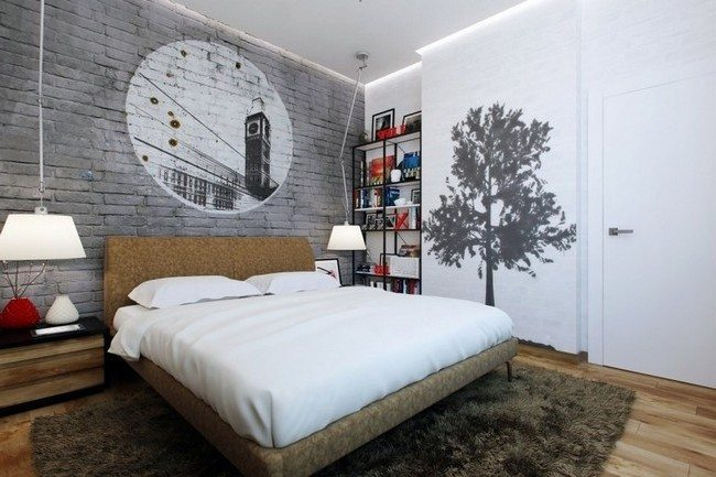 Simple tricks to making small bedrooms appear bigger for Black and white bedroom ideas for men