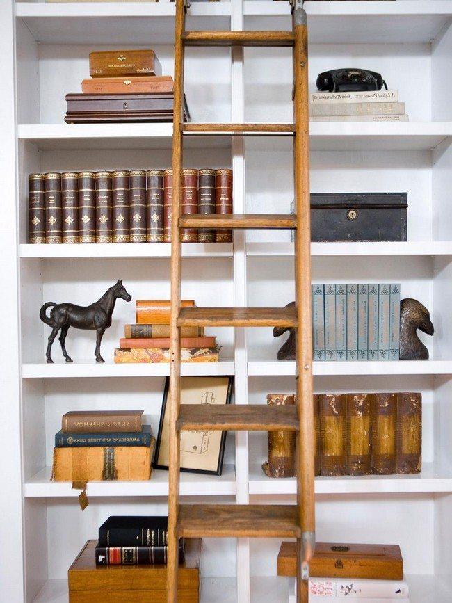 White-painted shelf