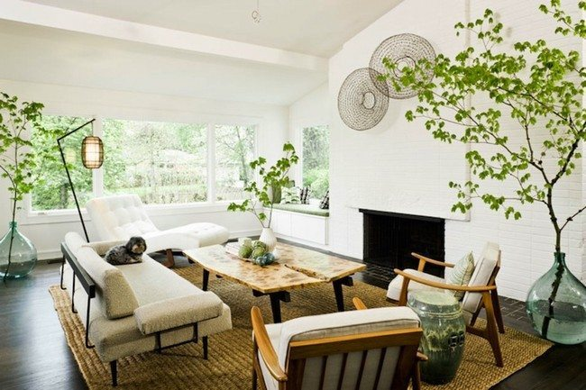 White Zen living room