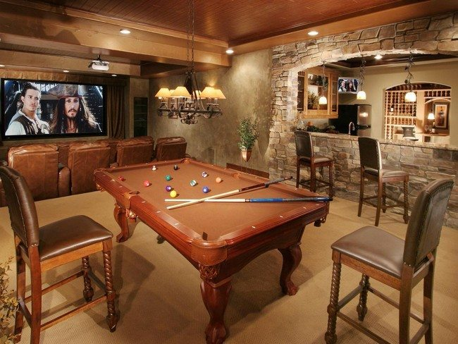 Home bar room designs decor around the world for Man cave designer