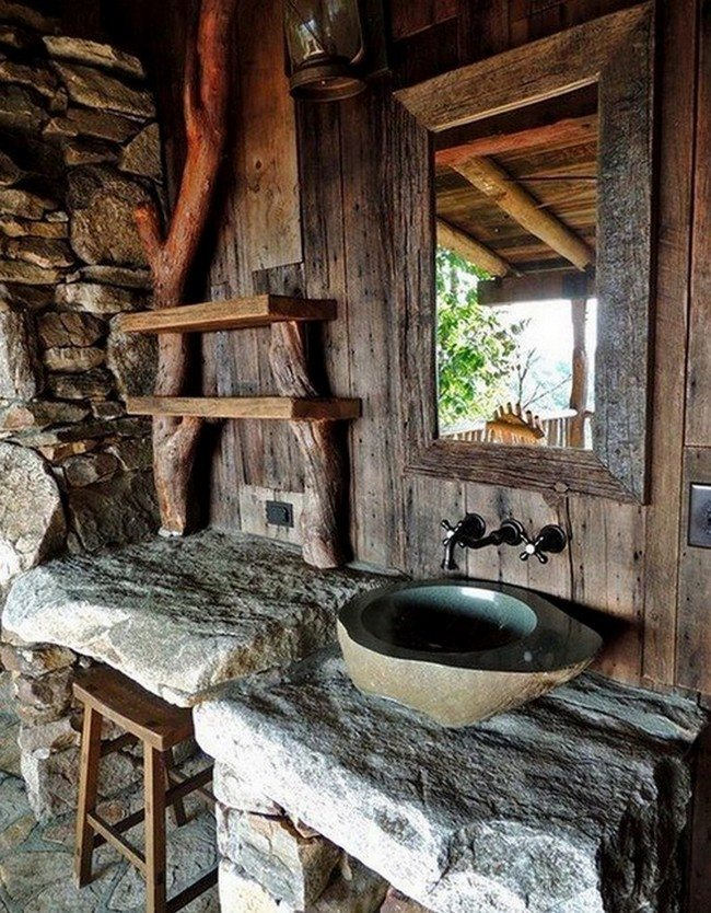 pics of rustic bathrooms. Stone Surfaces Rustic Bathroom Inspiration  Decor Around The World