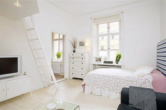 White-themed room