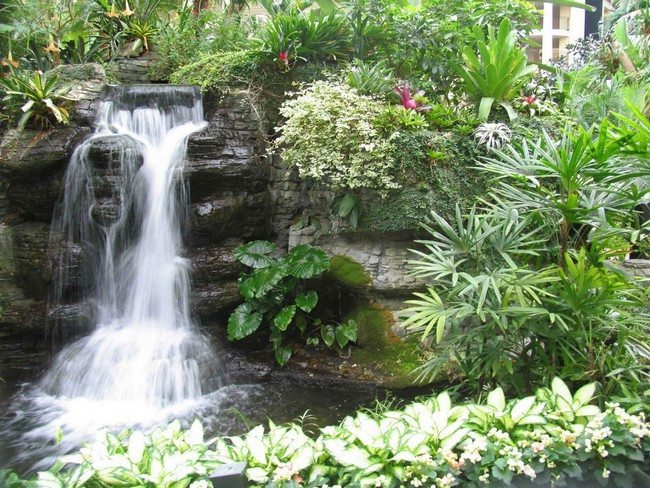 design ideas small backyard waterfall design garden waterfall design