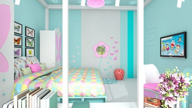 Girls bedroom style decor around the world for 3 year old bedroom ideas