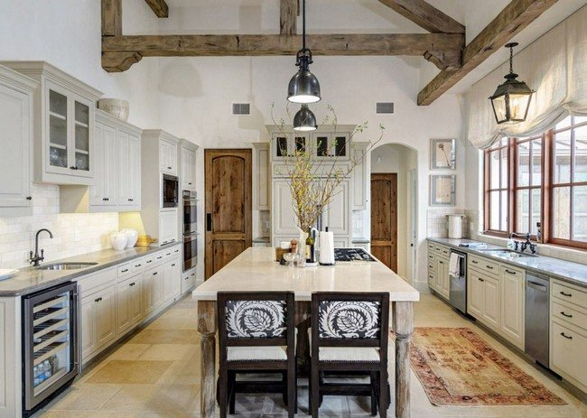 White-washed rustic kitchen