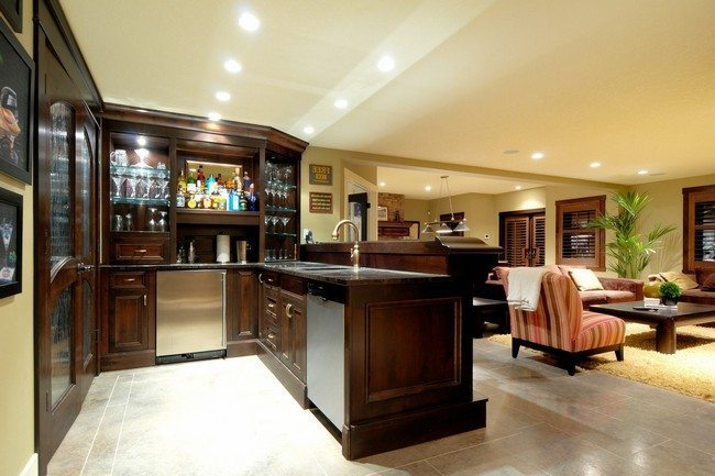 Home bar room designs decor around the world - Bar in living room designs ...