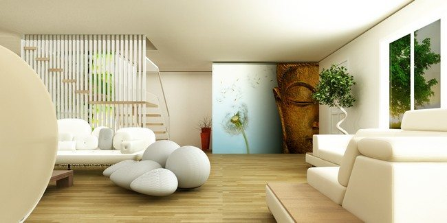 Zen living room interior design for Zen decorating ideas living room