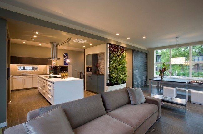 Open kitchen living room design ideas