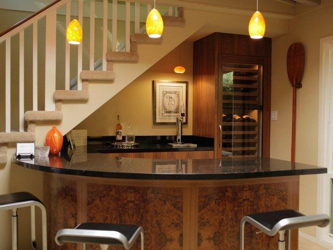 Home bar room designs decor around the world for Kitchen with mini bar design