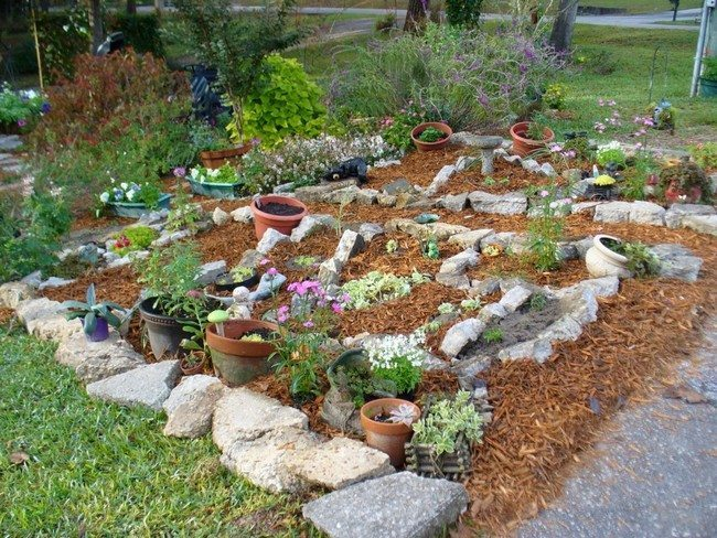 Rock garden inspiration ideas decor around the world for Simple landscaping plants