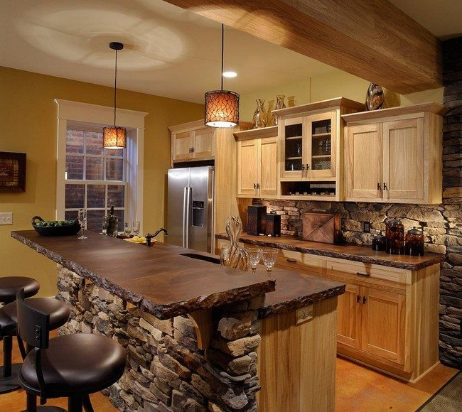 Easy ways to achieve the rustic kitchen look decor for Kitchen colors with white cabinets with rusted metal wall art