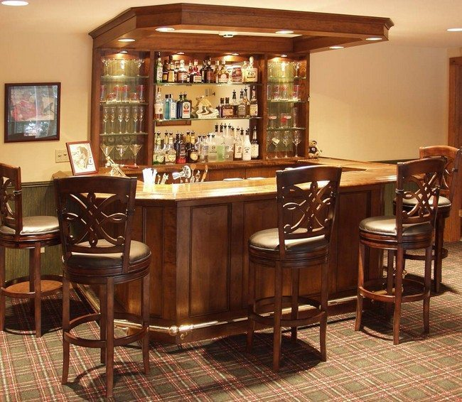 Home Bar Room Designs Decor Around The World - Home bar decorating ideas