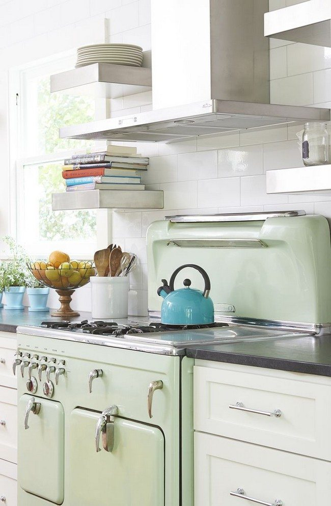 Countertop cookbook shelf a simple yet elegant way to for Easy ways to revamp your bathroom