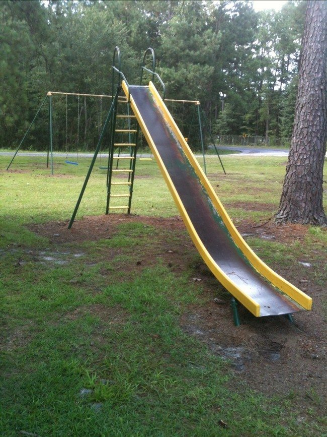 Large metal slide