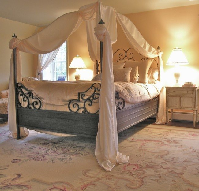 Large neutral-colored carpet & Transforming your Bedroom Using Luxury Canopy Beds - Decor Around ...