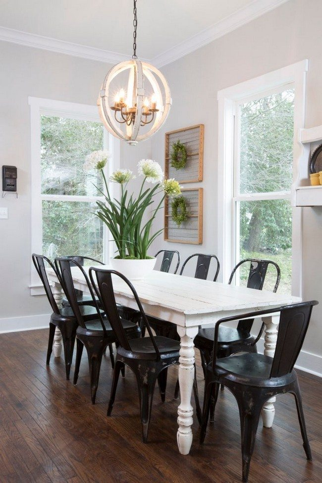 Dining Room Table Lighting Ideas Part - 45: White-painted Walls. White Dining Table