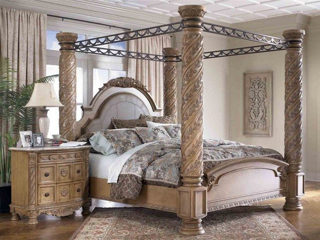 Fancy bedside cabinet & Transforming your Bedroom Using Luxury Canopy Beds - Decor Around ...