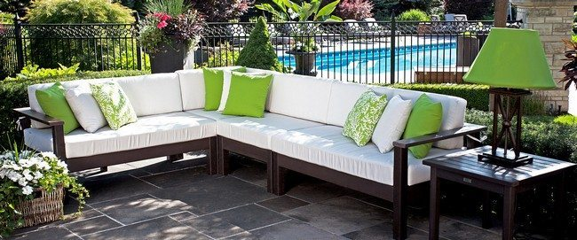 White and green throw pillows - Tips For Making Your Own Outdoor Furniture - Decor Around The World