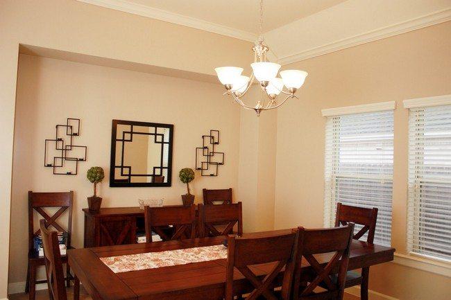 Dark red dining room