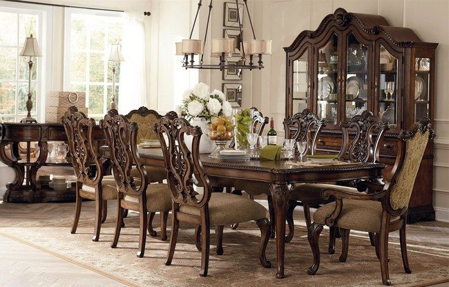 Dining room centerpieces ideas to make your room live for Fancy dining table and chairs