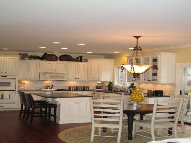 Contemporary Lighting Fixture For Kitchen Table