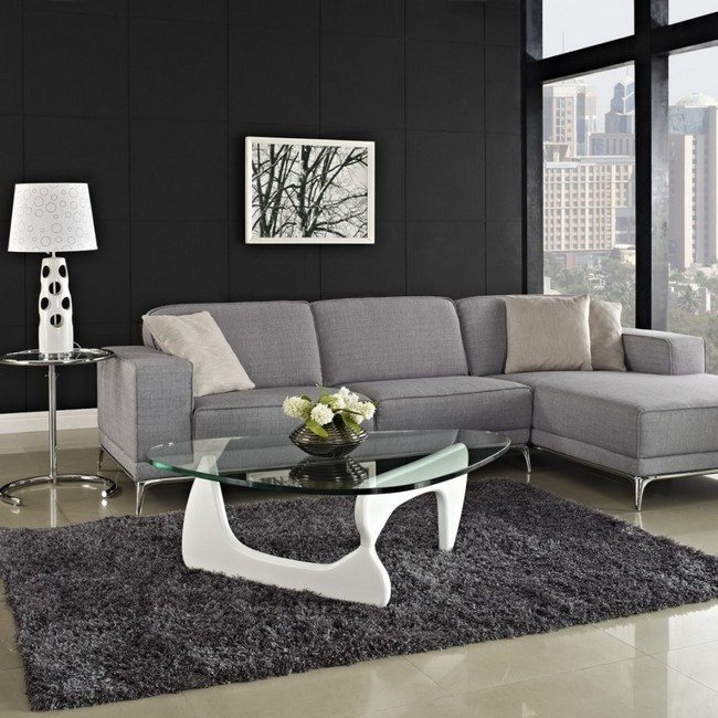 Ways to decorate grey living rooms decor around the world for Black grey living room