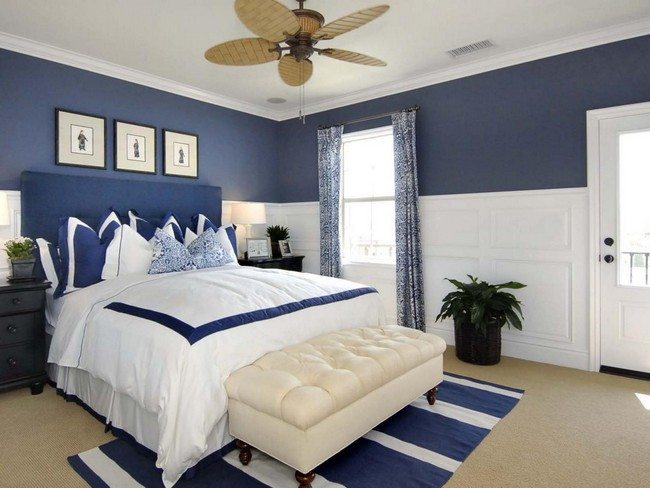 Decorating white and blue bedrooms decor around the world for Blue guest bedroom ideas