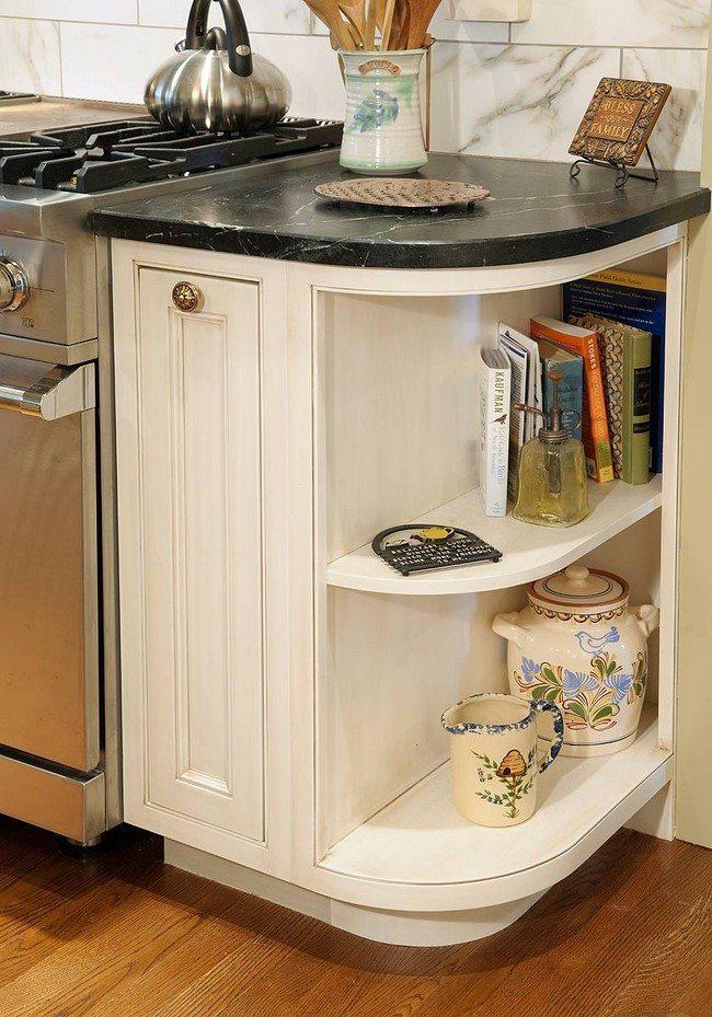 Open Kitchen Cabinet Shelving Peninsula