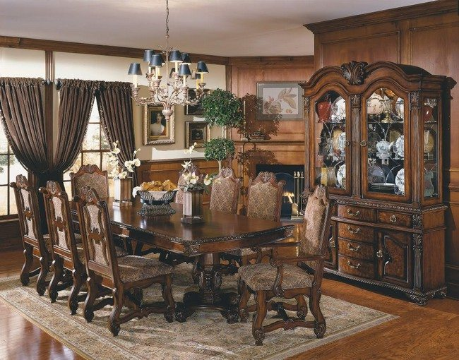 D cor for formal dining room designs decor around the world for Antique dining room sets