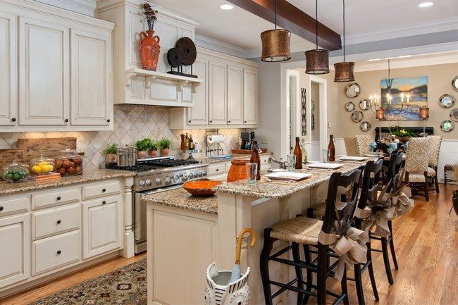 Creative plans for the open concept kitchen decor around for Kitchen family room combo floor plans