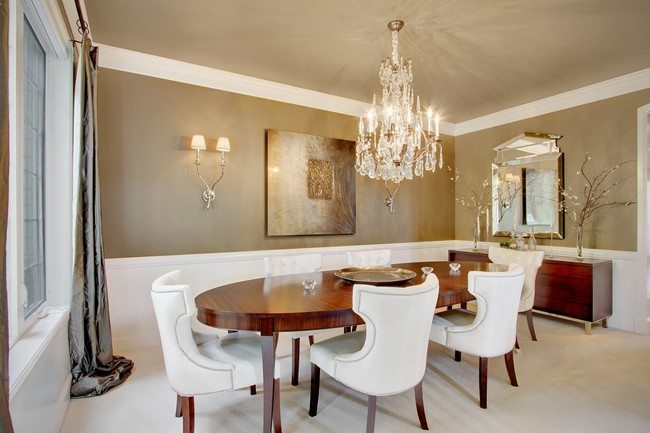 ... Formal Dining Room Look;. Oval Wooden Table