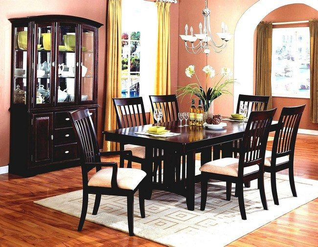 Black Dining Table White Chairs