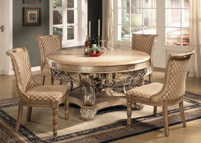 D cor for formal dining room designs decor around the world for Small elegant dining room tables