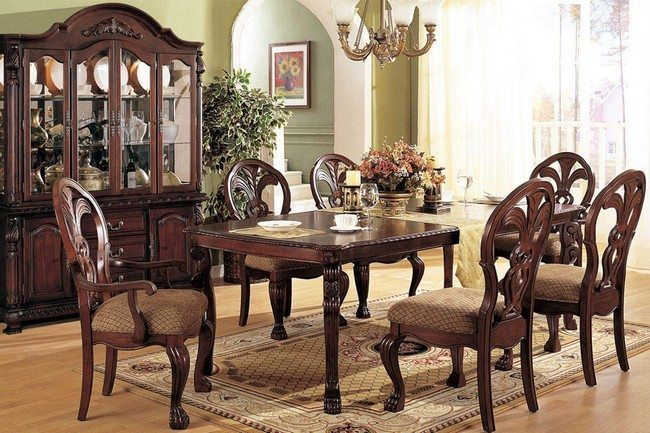 D cor for formal dining room designs decor around the world for Formal dining room tables