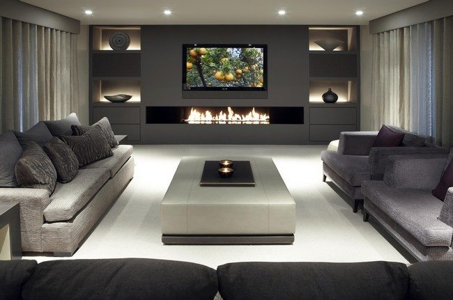 Ways to decorate grey living rooms decor around the world Italienische sofa
