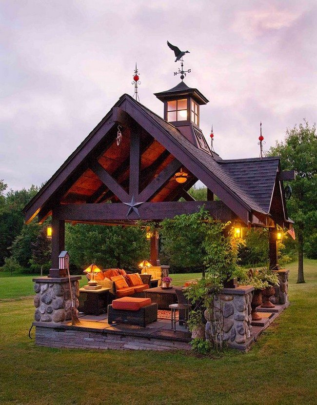 Garden Rooms With Fire Pit