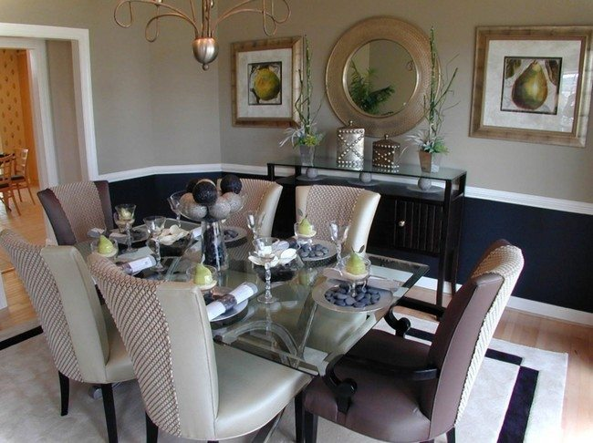 D cor for formal dining room designs decor around the world for Formal dining room wall decor