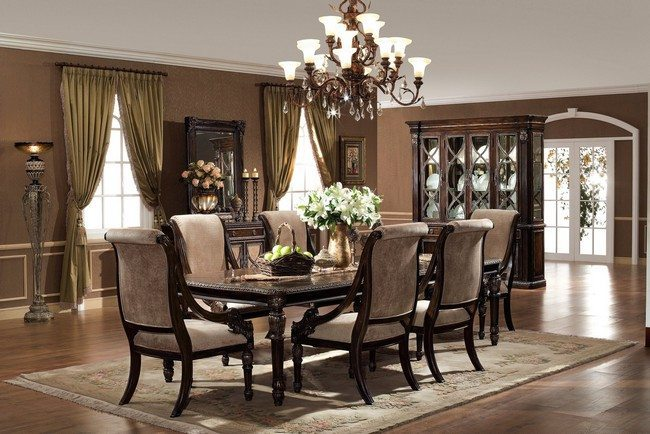 D cor for formal dining room designs decor around the world for Formal dining table decorating ideas